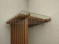 Zadaszenie na konstrukcji drewnianej.