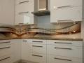 Panel do kuchni z grafiką. Abstrakcja.