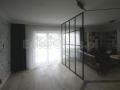 Ścianka szklana ze szprosami. Kolor czarny mat.
