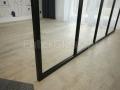 Ścianka szklana ze szprosami. Kolor czarny mat. Loft.