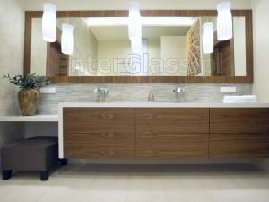 Lustro w łazience.
